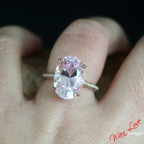 cut pave diamond diamonds center light ring radiant and three qrtr in naturally colored uneek shank double pink rose gold engagement stone rings with platinum