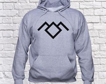 Hooded sweatshirt ASK IT. Log Lady Twin Peaks Printed hoodie jumper LpYgTbv