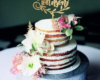 Mr and Mrs wedding cake topper, Last name cake toppers for weddings, custom wooden cake topper, mr mrs wedding cake topper with heart