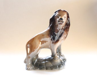 Vintage 1960's Ceramic Lion Figurine! Cool!