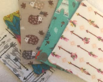 5 Pack Reusable Face Wipes