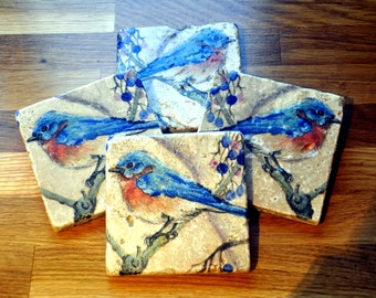 Blue Bird Natural Stone Coaster