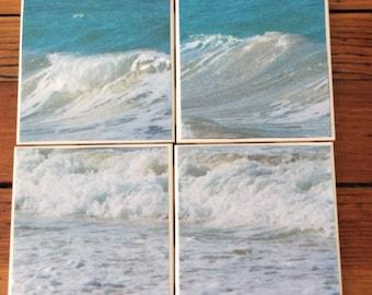 Wave Coasters- Set of 4 Ceramic Coasters