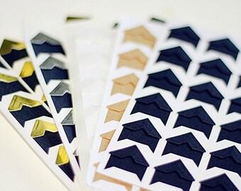 120 pcs Paper Photo Corners Stickers // Scrapbooking Embellishment // Journal Decoration