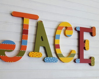 Nursery Name Letters - Baby Name Letters - Name Wall Letters - Whimsical Font - Boy Name Letters - Girl Name Letters