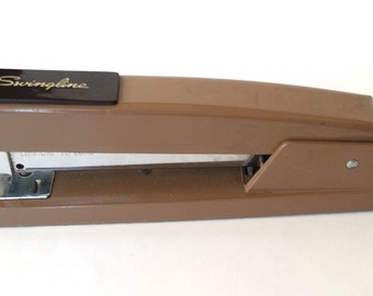 Vintage Brown Swingline Staple with Box of Staples Retro Office