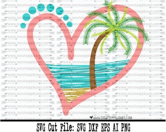 Beach SVG, summer svg file, monogram frame svg, palm tree SVG, mermaid svg, cruise svg, cruise shirt, vacation svg, socuteappliques