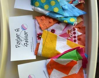 Scrappy Bunting Flag Fabric Garland
