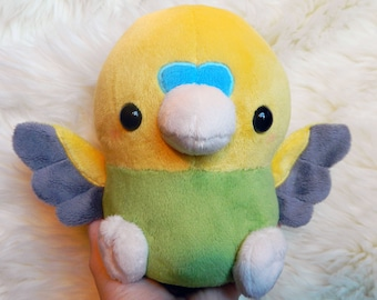 Made to Order Green and Yellow Budgie Plush