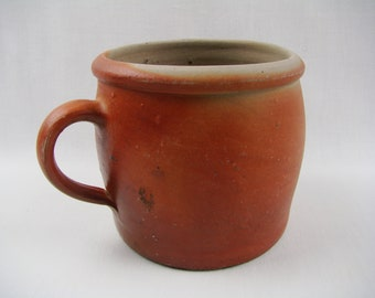 POT in stoneware in glazed stoneware, jar fat Provence retro - french Stoneware confit pot - Glazed Sandstone - Made in France
