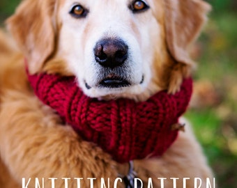 Dog Clothes ~ PDF Knitting Pattern - Immediate Download - Easy Knitting Pattern for your Dog ~ Sized Small through XL