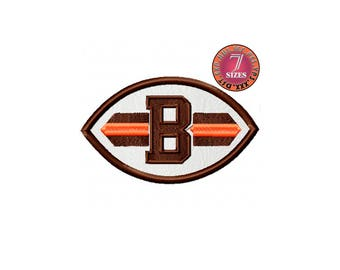 Cleveland Browns  7 Sizes Sport Team Embroidery Design instatnt download machine embroidery pattern