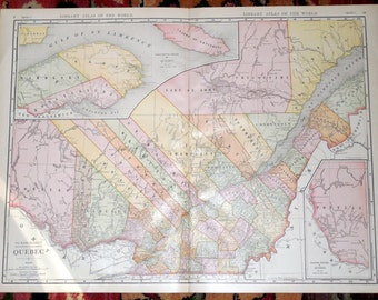 1900s quebec map etsy gumiabroncs Images