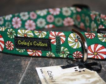 """Christmas Dog Collar """"Christmas Candy"""""""