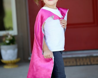 Superwoman Super Hero Cape & Mask - Pink and Silver Hero Cape, Super Hero Mask, Superwoman, Girl Cape, Superwoman Cape, Pink Superwoman