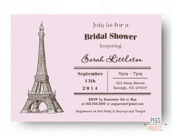 Paris Bridal Shower Invitation // Parisian Bridal Shower Invitation // French Bridal Shower Invitation // Printable Bridal Shower Invitation