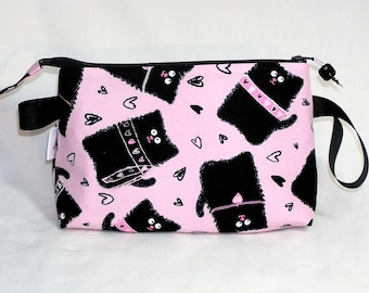 Smudgy Cats in Pink Tall Mia Bag