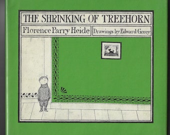 Edward Gorey SHRINKING OF TREEHORN 1971 dark humor, pen and ink illustration