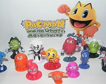 Pac-Man and the Ghostly Adventures Figure Set of 12 with PacMan, the 4 Ghosts