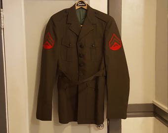 Vintage Military Jacket, Vintage Uniform Jacket, Military Costume, Wool Jacket
