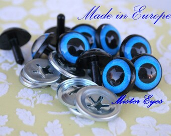 Blue safety eyes  20mm for plush animal amigurumi bear cat dog plastic eyes
