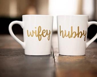 Hubby and Wifey Mug Set