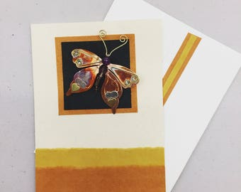 Butterfly Mailable Recycled Paper Pin Card