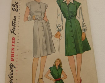 Antique Simplicity Pattern 1238 Misses Dress Jumper and Blouse Size 14 Factory Fold
