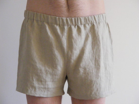 Simply Mens Linen Shorts / Dusty Pink / 100% Linen / Men's Linen Shorts / Boxers / Boxer Shorts fu9Ae681