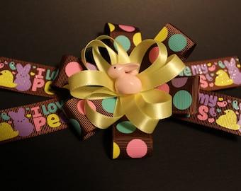Easter Peeps Hair Bow