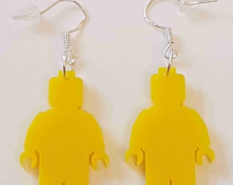 Lego Man Silhouette Earring - Acrylic