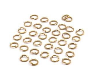 5mm Jump Rings - 250 Raw Brass Jump Rings (5x0.70mm) A0322