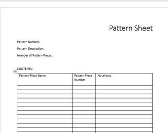 Blue - Fashion Costume Sewing Pattern Envelope Sheet