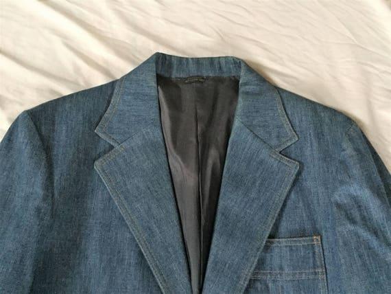 Levis Panatela Sportswear Mens Denim Blazer Jacket Sport Coat Western 1970s 40R Hrb7AEM