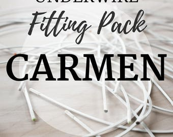 Carmen Underwire Fitting Pack! Three Pair of Underwire to Find your Perfect Fit!
