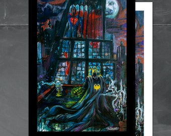 Batman VS Superman, 13x19 Art Print, featured cover of YS Magazine, DC Comics, Cole Brenner, Colorado Pop Artist, Dark Knight, Comic Book
