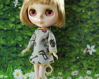Long sleeve fashion dress for Blythe doll 400-A4