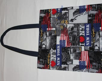 Cotton tote bag New york fully lined