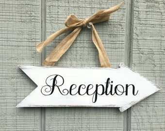 Beautiful Rustic Ivory 'Whitewashed' Painted Sign-Perfect for Weddings, Bridal Showers, Sweet 16 parties, Confirmations and so much more!