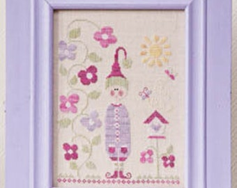 TRALALA Summer Elf Lutin d'été counted cross stitch patterns at thecottageneedle.com