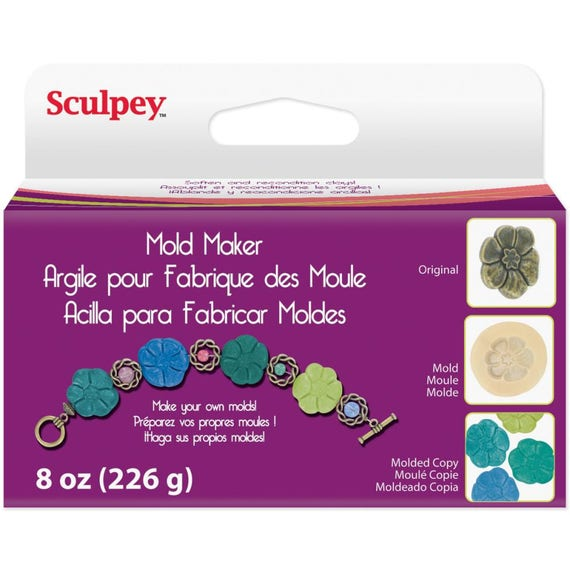 8oz. Mold maker by Sculpey for use as a clay softener or make flexible push molds in a matter of minutes.