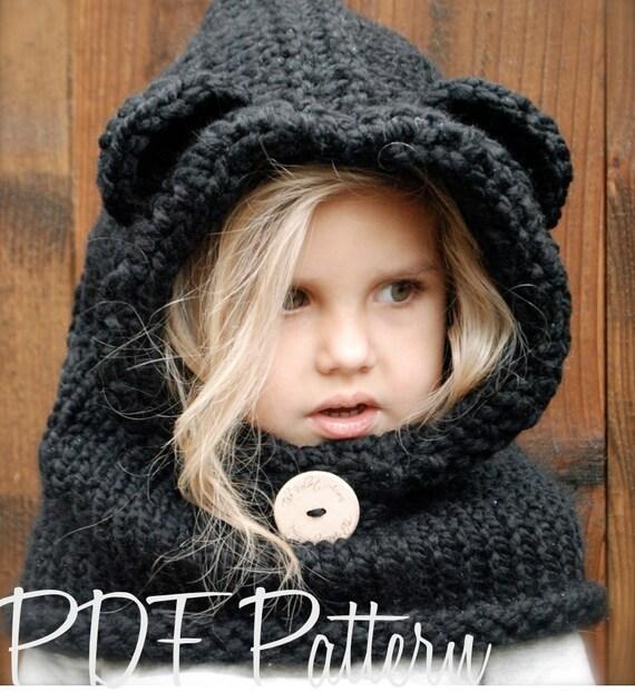 Knitting Pattern Burton Bear Cowl 69 Month 1218 Month