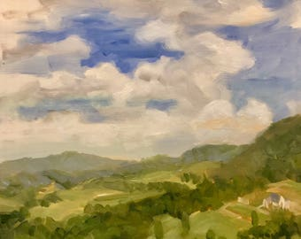 View from the Blue Ridge, Plein Air Painting by Alexia Scott