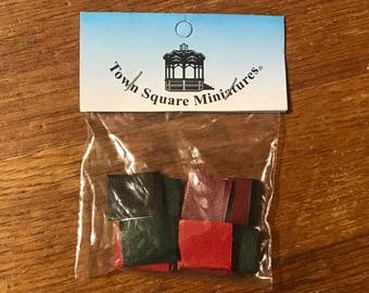 dollhouse books 1:12 by town square miniatures multicolor book faux leather