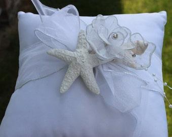 Starfish Ring Bearer Pillow/ Beach Wedding/ Destination Wedding/ Tropical Themed