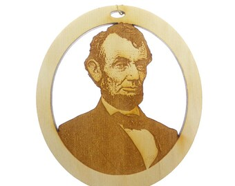 Lincoln Ornament - Historical Ornament - President Lincoln - Abraham Lincoln - President Lincoln Ornament - Honest Abe - Historical Ornament
