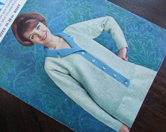 Cardigan and Skirt: Size 34 - 38 Inch Kaiapoi Knitting Pattern