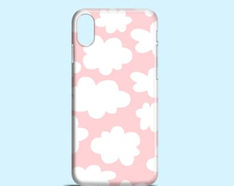 Pastel Pink Clouds phone case, iPhone X case / iPhone 8 / Samsung Galaxy S7, Samsung Galaxy S6, Samsung Galaxy S6 Edge, Samsung Galaxy S5