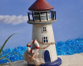 Nautical Lighthouse for Miniature Garden, Fairy Garden
