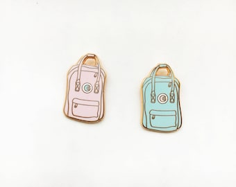 Pastel backpack enamel pin